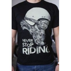 Never stop riding BLACK