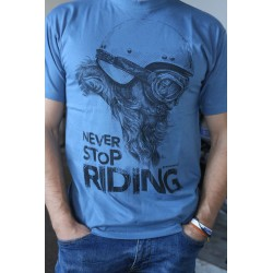 Never stop riding BLUE